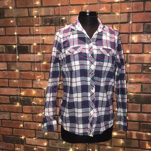 Eddie Bauer Classic Fit Button Up Flannel Shirt